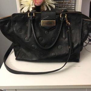 Marc by Marc Jacobs Black Dot Embossed Leather Bag